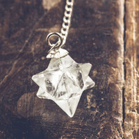 Merkaba Quartz Pendulum Ornament