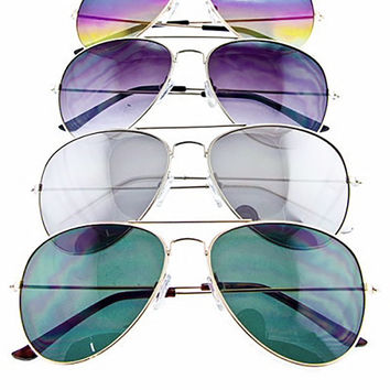 The Luxe Mode Aviator Frame Sunglasses *4 Colors