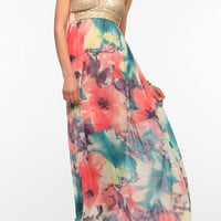 Urban Outfitters - Reverse Sequin Bustier Maxi Dress