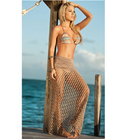 Summer Swimsuit Beach Sexy New Arrival Hot Hot Sale Lace Hollow Out Maxi Dress Skirt Blouse Bikini [6033425921]