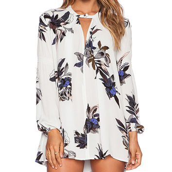 Free People Tree Swing Tunic in White