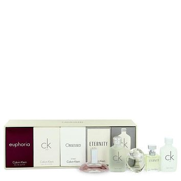 Euphoria by Calvin Klein Gift Set -- Deluxe Fragrance Collection Includes CK One, Euphoria, CK All, Obsessed and Eternity for Women