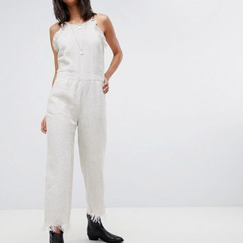 Blank NYC Crop Linen Jumpsuit at asos.com