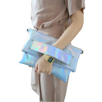 Foldable Silver Evening Clutch Bags Fashion Shoulder Bags High Quality Handbags Lady Envelope Cross Body Bag Holographic-in Clutches from Luggage & Bags on Aliexpress.com | Alibaba Group