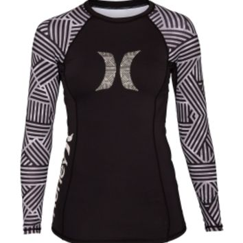 Hurley Women's Basketweave Long Sleeve Rash Guard | DICK'S Sporting Goods