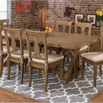 Jofran Slater Mill Trestle Dining Table | www.hayneedle.com