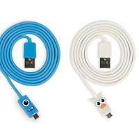 Kikkerland Design Inc   » Products  » Micro USB Owl + Blue Kooky Cable