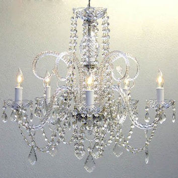"""Set Of 10 Large Crystal Chandeliers Lighting - Each One Is 24"""" X 25"""" - Set Of 10 - A46-385/5-Set Of 10"""