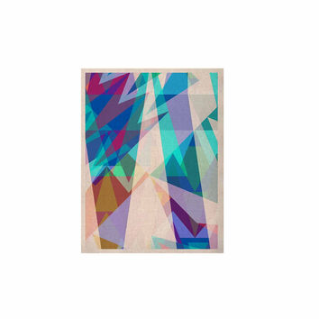 "Miranda Mol ""Triangle Party"" Multicolor KESS Naturals Canvas (Frame not Included)"