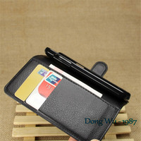 Mobile Phone Bag Cover Case with Card holder Leather Wallet Style Stand Case For Samsung Galaxy S5 Mini SM-G800F/G800H