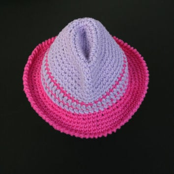 Summer Baby/Toddler Girl Fedora Hat Crochet Cotton Hat Photography  Props