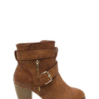 So Strapping Faux Leather Booties GoJane.com