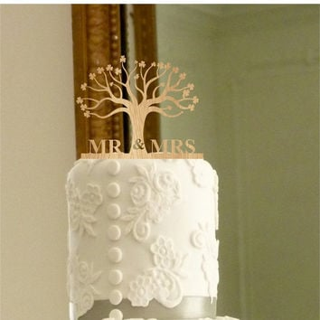 fall sale Rustic Wedding Cake Topper - Personalized Monogram Cake Topper - Mr and Mrs - Cake Decor - Bride and Groom