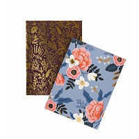 RIFLE PAPER CO. PAIR OF 2 BIRCH POCKET NOTEBOOKS