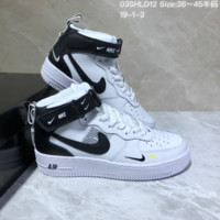 DCCK N741 Nike Air Force 1 '07 AF1 Velcro TM Hihgt Casual Skate Shoes White