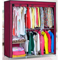 Portable Clothes Storage Rack Closet Wardrobe Ship From USA [9305900935]