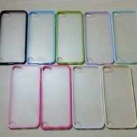 For Apple iPod Touch 5 Silicone Bumper & Frosted Hard Plastic Case
