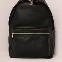 Missguided - Sports Luxe Rucksack Black