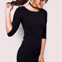 Sandy Basic Dress - Black