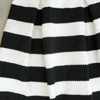 Black and White Striped Skirt [5696] - $22.40 : Vintage Inspired Clothing & Affordable Dresses, deloom | Modern. Vintage. Crafted.