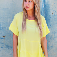 Moonlight Ride Blouse {Yellow}