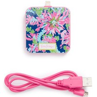 Women's Lilly Pulitzer 'Trippin & Sippin' iPhone 5s, 5c & 5 Charger - Blue