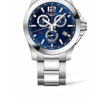 Longines Conquest Chronograph Blue Dial Mens Watch L38004966