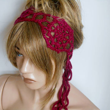 Knitting Headband, Handmade Headband, Crochet Hair Band, Headband, Bordeaux Hair Band, Hair Accessories, Hair Band, Gift Ideas, Knitting