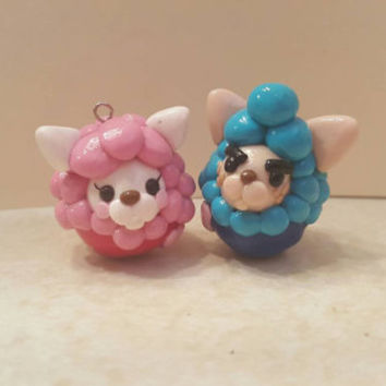 Animal Crossing Inspired Reese and Cyrus Polymer Clay Charms