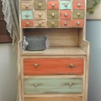 Rustic Chic 34 Drawer Cabinet Organizer- A MUST See