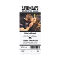 Wedding Save the Date Football Ticket Custom Invites from Zazzle.com