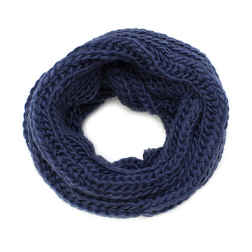 Easy Breezy Infinity Scarf - Navy