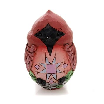 Jim Shore ANIMAL CHARACTER EGGS Polyresin Hand Painted 6001079 Red Bird