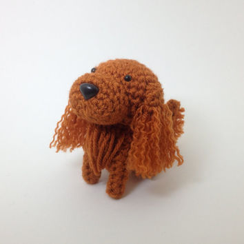 Irish Setter Crochet Dog Stuffed Animal Puppy Amigurumi Doggie Plush / Made to Order
