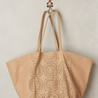 Cleobella Perfed Circle Bag in Nude Size: All Bags