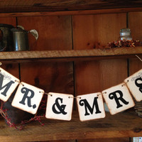 Mr. and Mrs. Bunting, Mr and Mrs Garland, Wedding Bunting, Wedding Garland, Bridal Bunting, Wedding Decor, Photo Prop Bunting