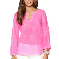Colby Pintuck Top - Lilly Pulitzer
