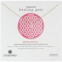 "Dogeared ""Lasting Healing Gems"" Rock Crystal Pendant Necklace"