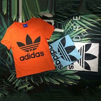 ADIDAS Clover 2018 Odell fabric couple models T-shirt short sleeve F-Great Me Store