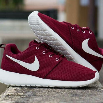 """""""NIKE"""" Trending Fashion Casual Sports Shoes Wine red"""