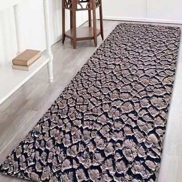 Dry Land Print Flannel Skidproof Bathroom Rug
