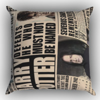 december2012 harry potter daily prophet Zippered Pillows  Covers 16x16, 18x18, 20x20 Inches
