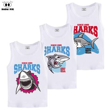 DMDM PIG 3D Printed Baby Boy Clothes Sharks Animals T-Shirts For Boys Clothes Girls T-Shirt Child Tops Tshirt Size 5 8 10 Years