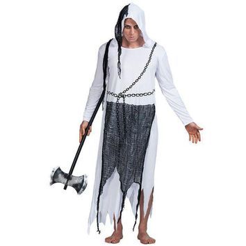 PEAPON Men Phantom Ghost Reaper Devil Satan Costume Carnival Christmas Party Adult Male Outfits Fancy Dress Clothing Halloween Costumes
