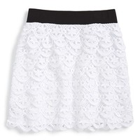 Girl's Flowers by Zoe Lace Miniskirt,
