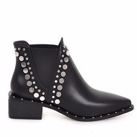 Moto Stud Ankle Boots