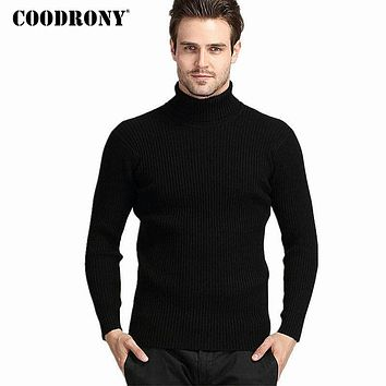 Winter Thick Warm Cashmere Sweater Men Turtleneck Mens Sweaters Slim Fit Pullover Men