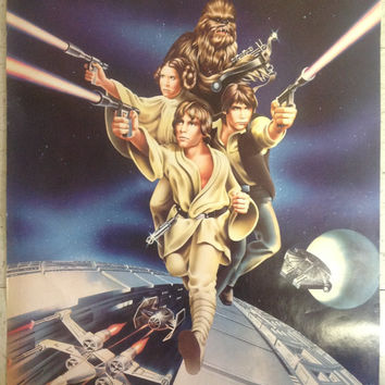 Original 1978 Star Wars Promo Poster Luke Skywalker, Princess Leia Han Solo Chewbacca from Procter Gamble