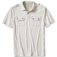 Banana Republic Mens Vintage White Polo