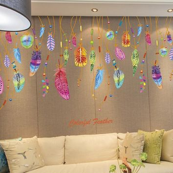 So Unique!!! Dream Catcher Feathers Wall Decals